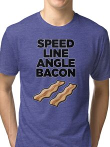 Speed Line Angle Bacon Tri-blend T-Shirt
