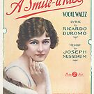 A SMILE A KISS (vintage illustration) by ART INSPIRED BY MUSIC