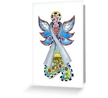 Brain Cancer Ribbon Angel ~ Peace, Love, Faith and Hope Greeting Card