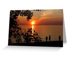 Evening Silhouttes Greeting Card