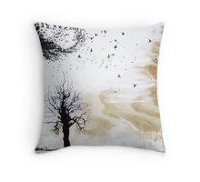 Tree and Birds Throw Pillow