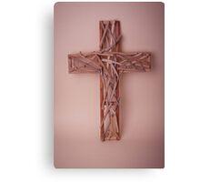 Wooden Cross Canvas Print