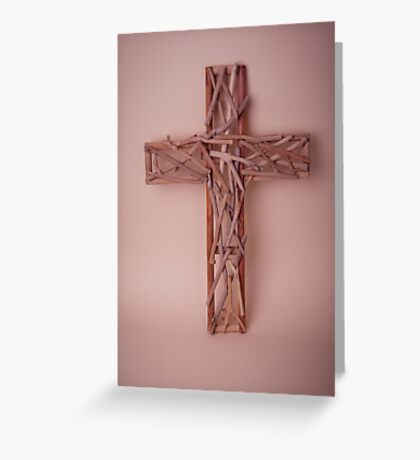 Wooden Cross Greeting Card