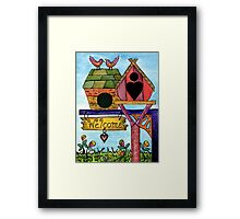 Birds are Welcome Framed Print