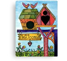 Birds are Welcome Canvas Print