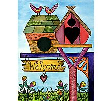 Birds are Welcome Photographic Print