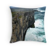 Cliffs of Inishmore Throw Pillow