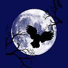 Moon lit owl by Emma Williams