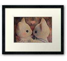 Kitty Kisses Framed Print