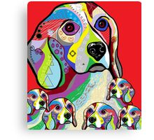 Beagle and Babies Canvas Print