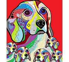 Beagle and Babies Photographic Print