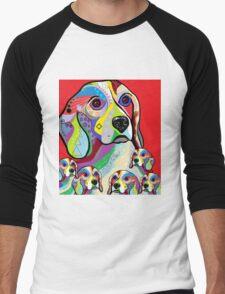 Beagle and Babies Men's Baseball ¾ T-Shirt