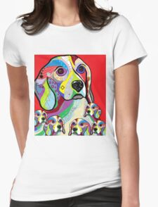 Beagle and Babies Womens Fitted T-Shirt