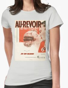 AU REVOIR BUT NOT GOODBYE (vintage illustration) Womens Fitted T-Shirt