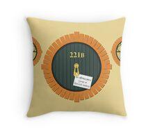 221B Bag End Throw Pillow