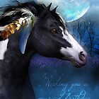 Indian Style Horse Birthday Greeting Card by Moonlake
