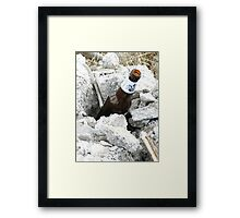 After a hard day's work Framed Print