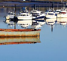 Boat Reflection by Jessica Annalee