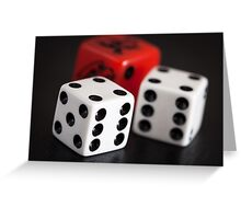 """""""double six"""" 3 dice Greeting Card"""