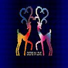 Deers In Love - Blue*01 by Vidka Art