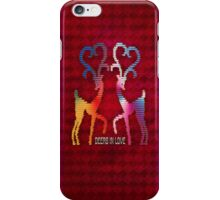 Deers In Love - Pink iPhone Case/Skin