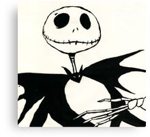 Jack Skellington Canvas Print