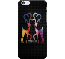 Deers In Love - Black iPhone Case/Skin