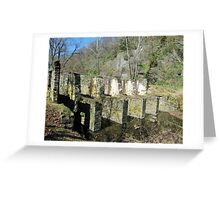 The Ruins of a Pulp Factory, Harpers Ferry, WV Greeting Card