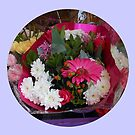 Floral Vignette - Gerbera Daisies and Dahlias by kathrynsgallery