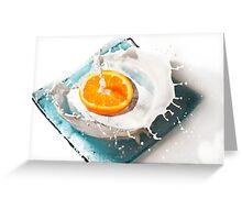 Orange Art Greeting Card