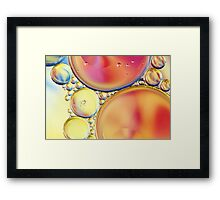 Candy Coloured Oil & Water Drops Framed Print