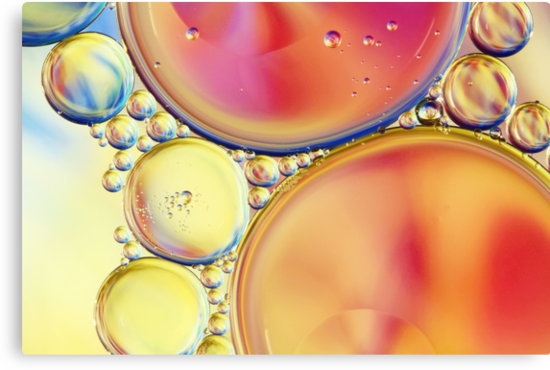 Candy Coloured Oil & Water Drops by Sharon Johnstone
