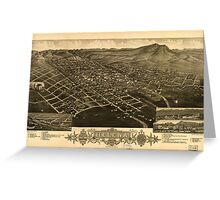 Panoramic Maps 1883 bird's eye view of Helena Montana The capitol of Montana and county seat of Lewis and Clarke Co Greeting Card