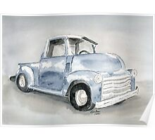 Old Pick Up truck Poster