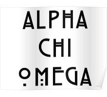 Alpha Chi Omega AHS Logo Poster