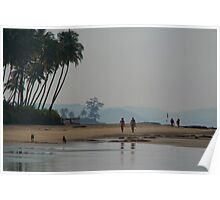 Along the Beach North Goa Poster