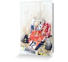 Ferrari 312T Monaco GP 1975 Niki Lauda winner Greeting Card
