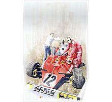 Ferrari 312T Monaco GP 1975 Niki Lauda winner Poster