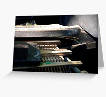 Spent Piano Greeting Card
