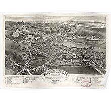 Panoramic Maps Sandwich Village Barnstable County Mass looking west 1884 Poster