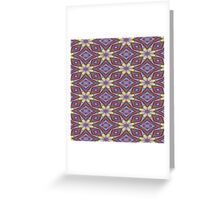 Yellow Flowers and Amethyst Diamonds Greeting Card