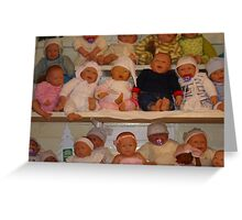 Realistic Baby dolls Greeting Card