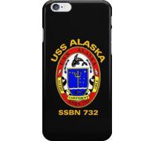 USS Alaska (SSBN-732) Crest for Dark Colors iPhone Case/Skin