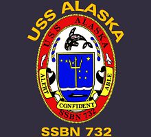 USS Alaska (SSBN-732) Crest for Dark Colors Unisex T-Shirt