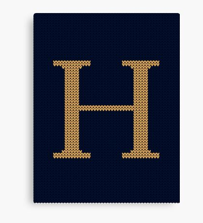 Weasley Sweater Letter H Canvas Print
