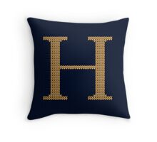 Weasley Sweater Letter H Throw Pillow