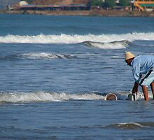 Cleaning Buckets in the Sea Arambol by SerenaB