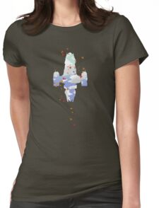 Minimalist Serenity - Leaf On The Wind Womens Fitted T-Shirt