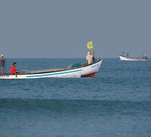 Fishing Boats North Goa by SerenaB