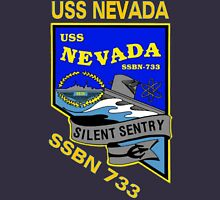 USS Nevada (SSBN-733) Crest for Dark Colors Unisex T-Shirt